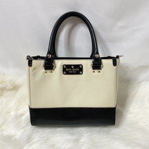 Kate Spade Leather Two Tone Leather Zip Hand Bag